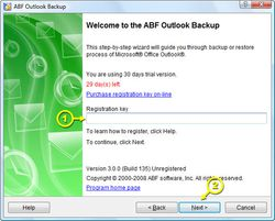 ABF Outlook Backup screen2