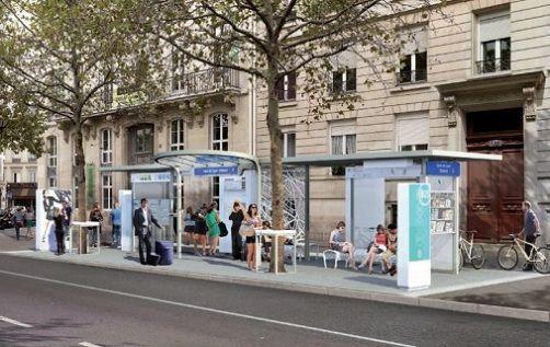 Abribus high-tech Paris
