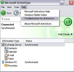 ActiveSync screen1