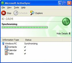 ActiveSync screen2