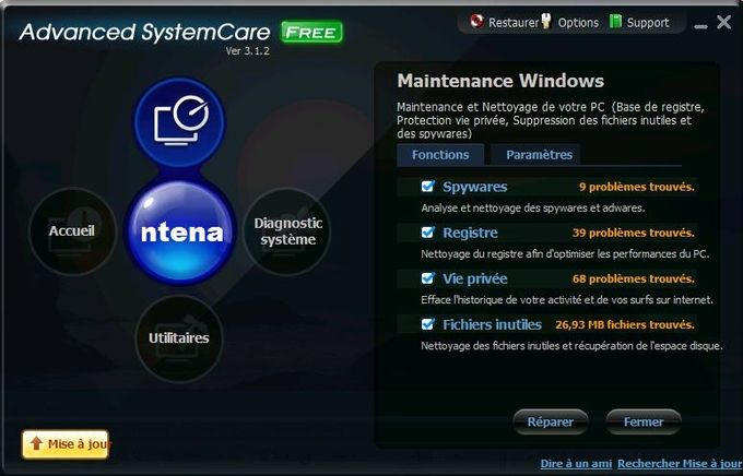 Advanced SystemCare Maintenance