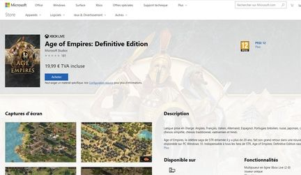 Age of Empire Windows Store
