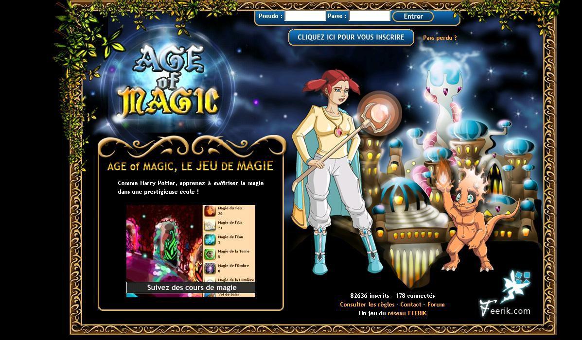 age of magic une cole de magie gratuite sur la toile. Black Bedroom Furniture Sets. Home Design Ideas