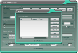 Aktiv MP3 Recorder screen 2
