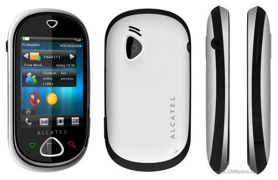 Alcatel OT-909 One Touch MAX blanc noir