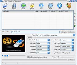 Allok Video to 3GP Converter screen