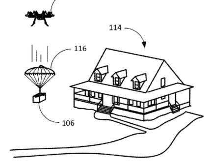 Amazon parachutage colis