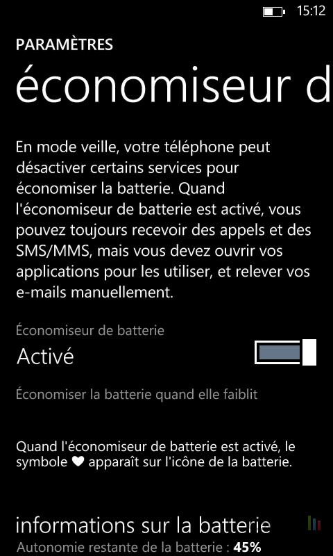Améliorer autonomie Windows Phone (2)