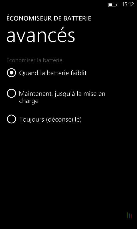 Améliorer autonomie Windows Phone (3)
