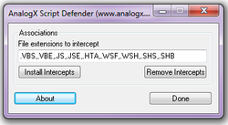 AnalogX Script Defender screen1