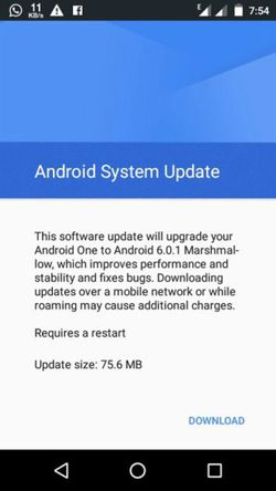 Android 6.0.1 Micromax Canvas A1 (1)