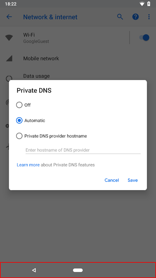 Android-P-Pirvate-DNS-barre-navigation