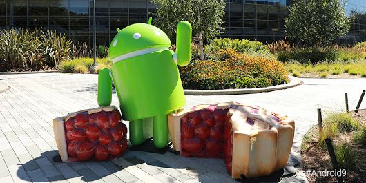 Android-Pie-statue