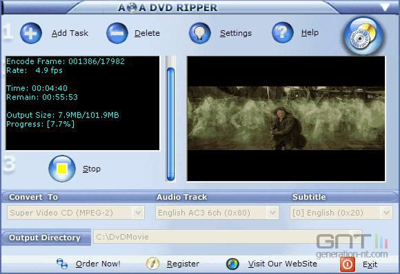 AoA DVD Ripper screen 2