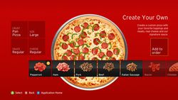 Application pizza hut Xbox