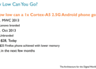 ARM smartphone 20 dollars
