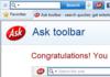 L'infâme Ask Toolbar dans le collimateur de Microsoft