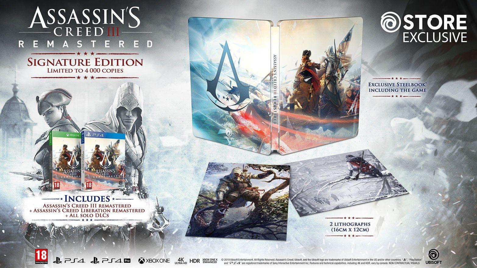 Assassin's Creed III : la version originale disparait au profit du Remaster