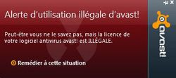 Avast-licence-illegale