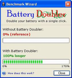 Battery Doubler screen 2