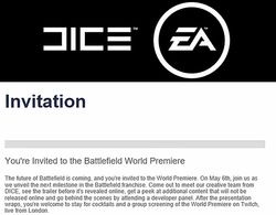 Battlefield 5 invitation