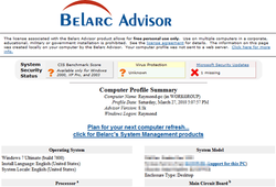 Belarc Advisor screen2