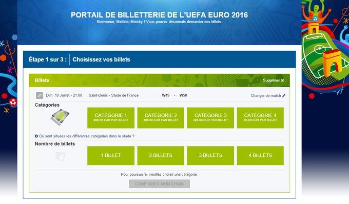 Billeterie en ligne Euro 2016