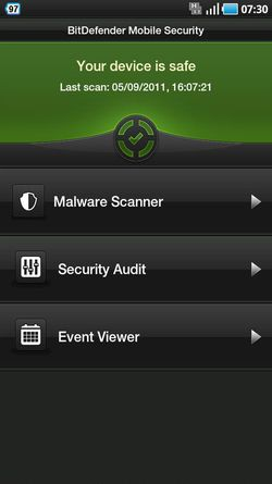 BitDefender Mobile Security Android 01