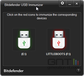 BitDefender USB Immunizer screen