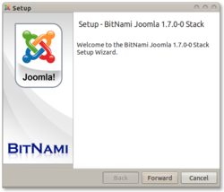 Bitnami Joomla screen1
