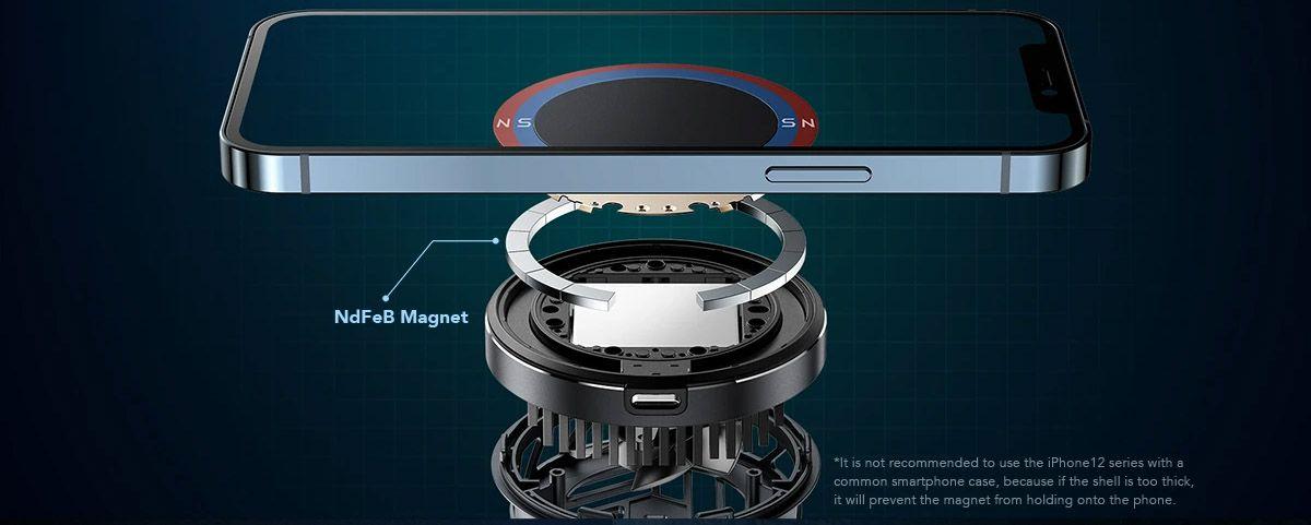 Black Shark Magnetic Cooler detaile