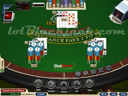 Blackjack Club screen 1