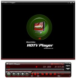 blaze video hdtv player screen
