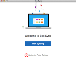 Box Sync screen
