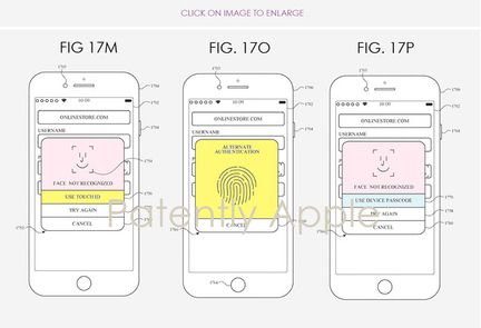 Brevet Apple touch ID