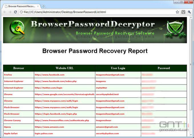 BrowserPasswordDecryptor screen2