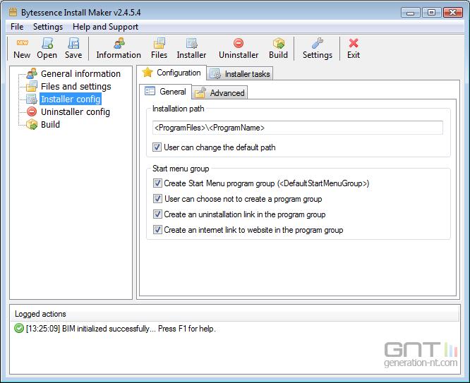 Bytessence Install Maker screen2