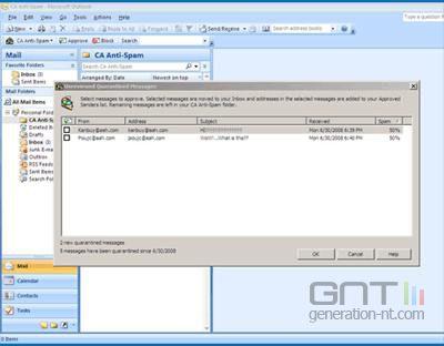 CA Anti-Spam Plus CA Website Inspector 2009screen