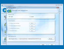 CA Backup and Migration 2009 screen 1