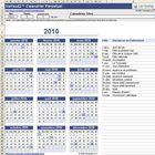 Modèle de Calendrier Excel annuel 2011 : le nouveau calendrier au moyen d'un calendrier perpétuel