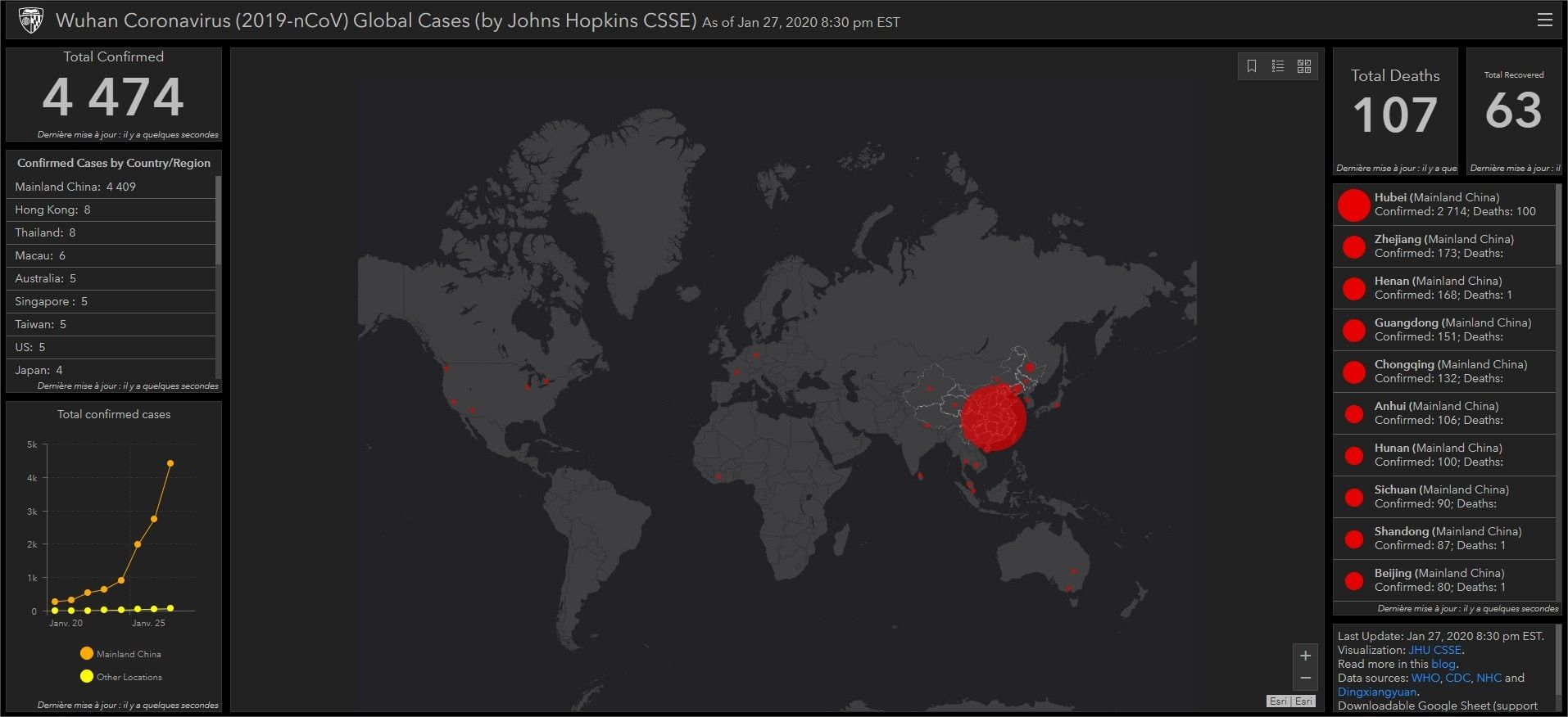 Coronavirus : une Intelligence Artificielle avait prédit l'épidémie, une carte de propagation disponible