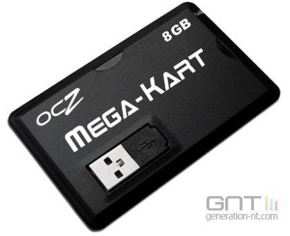 Carte Mega-Kart OCZ 8 GOo vue de devant