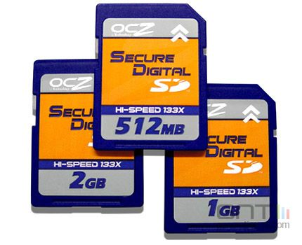 Cartes memoire sd ocz