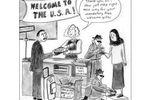 Cartoon Douane américaine (Small)