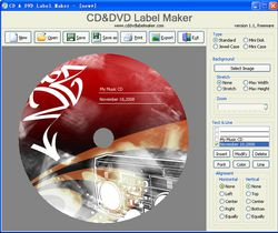 CD&DVD Label Maker screen2