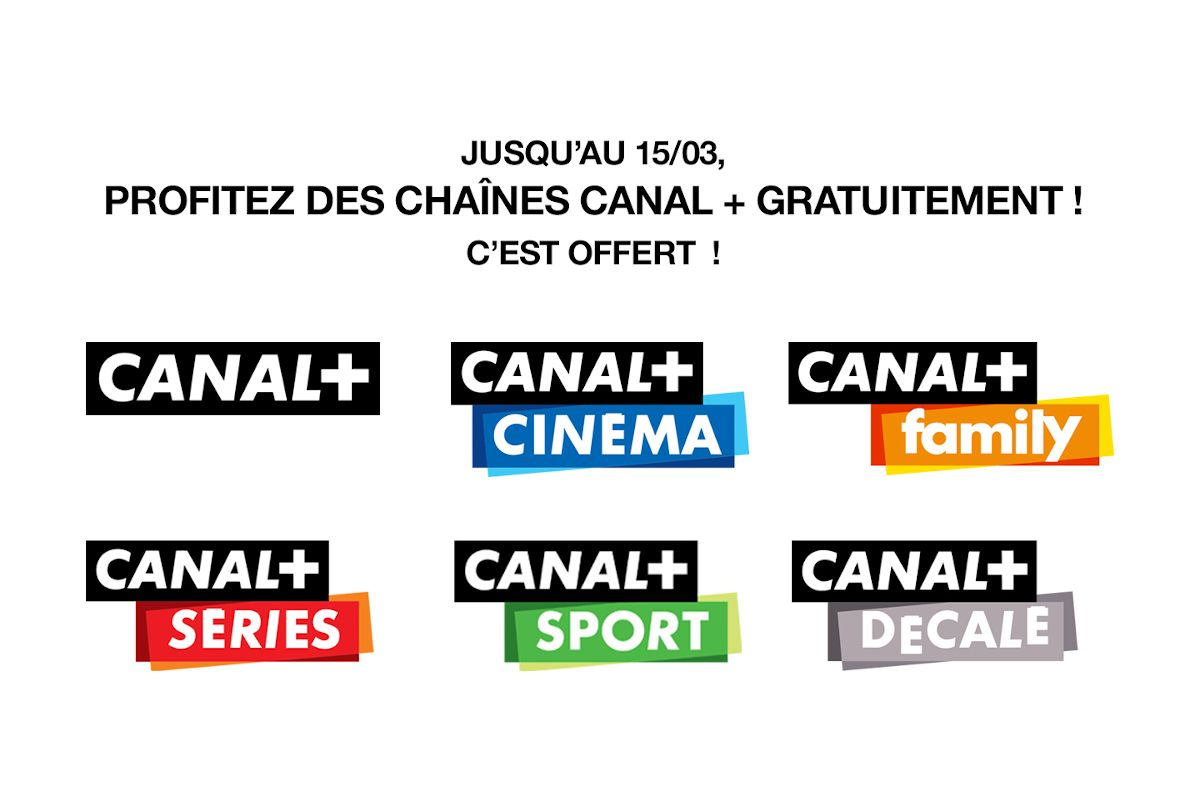 Coronavirus : Canal+ en clair pour tous ! Et les packs accessibles gratuitement pour les abonnés !