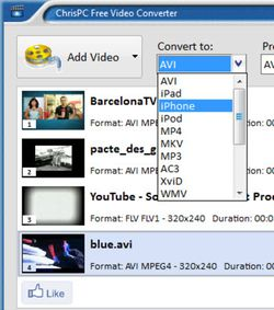ChrisPC Free Video Converter screen1