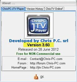 ChrisPC JTV Player screen2