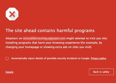 Chrome-avertissement