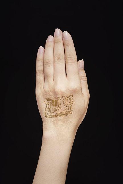 Circuit imprimé peau